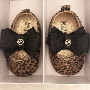 Micheal Kors baby girls leopard slip-on.
